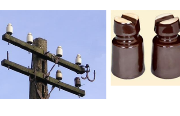 What are insulators and types of insulators used in transmission lines