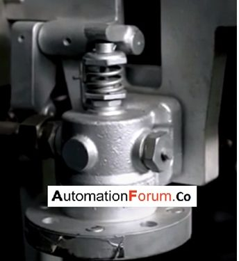 What is a poppet valve and what does it do