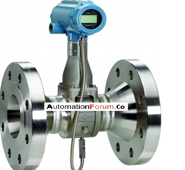 What is a vortex flow meter and how is it constructed