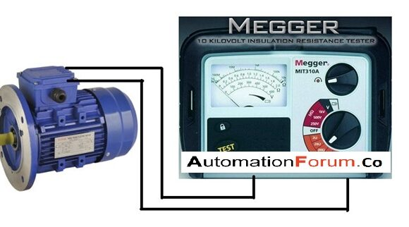 How to test a 3 phase motor by using a megger